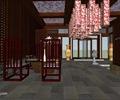 咖啡廳,置物架,桌椅,燈具,花瓶,屏風