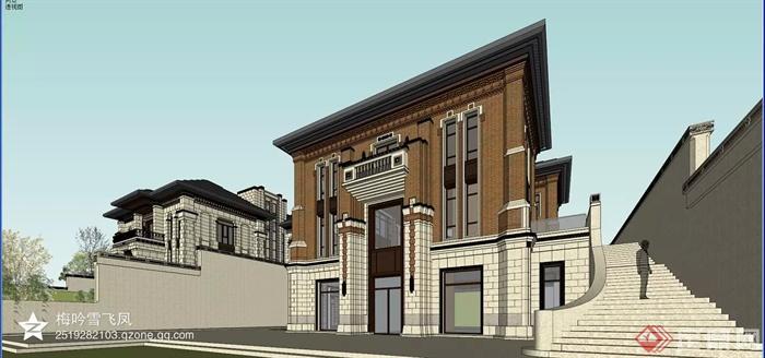 中式风格各种建筑设计方案图-别墅建筑台阶-设计师