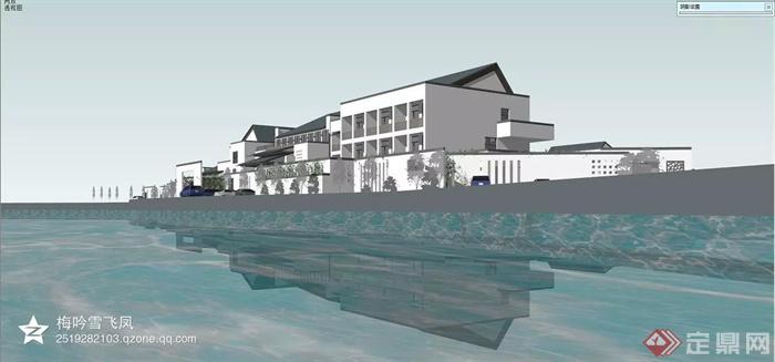 中式风格各种建筑设计方案图-综合建筑水景-设计师