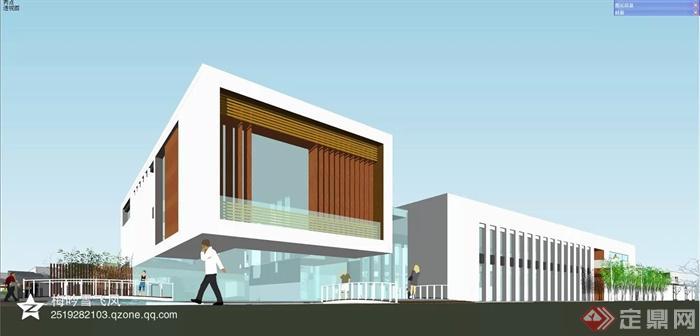 中式风格各种建筑设计方案图-集装箱式建筑办公建筑