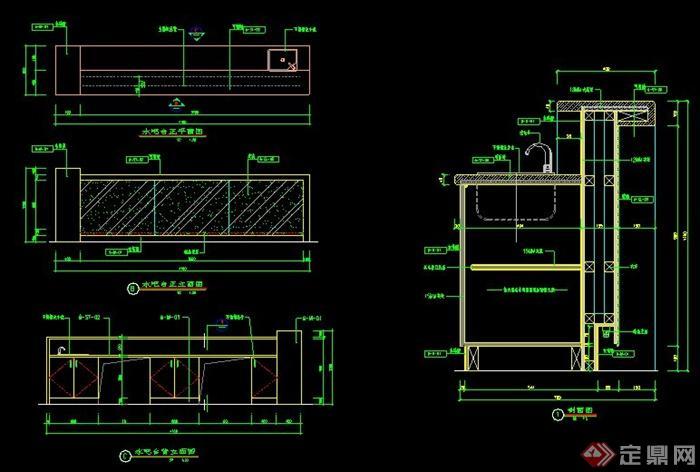 多款酒吧吧台施工图(3)