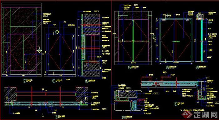 室内装饰防火门,卧室门施工图