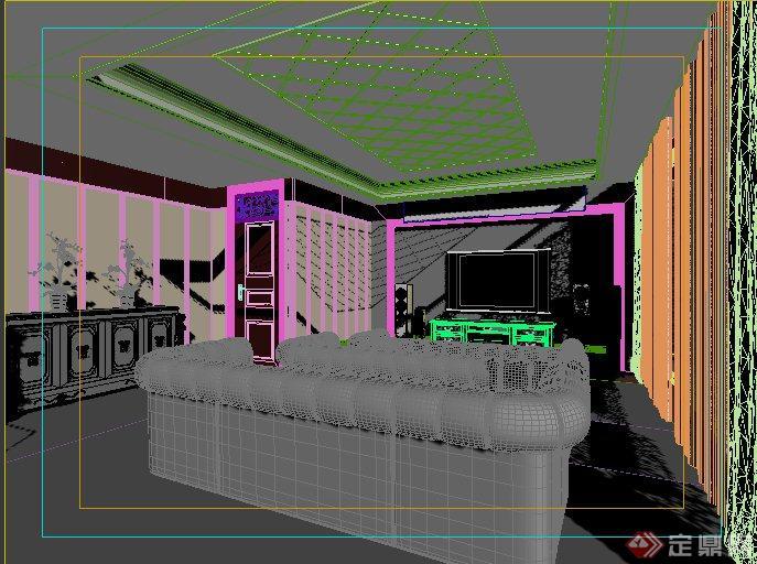 欧式风格家装影视厅室内设计3dmax模型