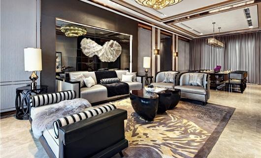 重慶某高層小區室內設計、新古典