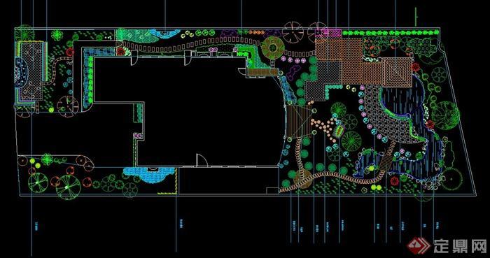 某景观庭院别墅布置v景观CAD施工图龙岩有别墅区万达那边图片