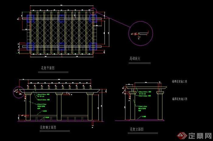 某庭院玻璃别墅布置v庭院CAD施工图图片日本木别墅景观图片