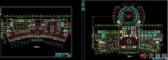 某欧式多层会所建筑设计cad方案图