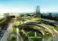 商业环境,商业综合体,综合建筑,道路