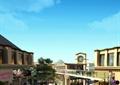 商业街,步行街,商业建筑,水景,商业环境