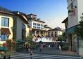 度假小镇,商业街景观,台阶,水景