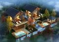 温泉会所,会所,庭院景观,温泉池,凉亭
