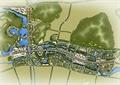 城区规划,城市景观,彩平图