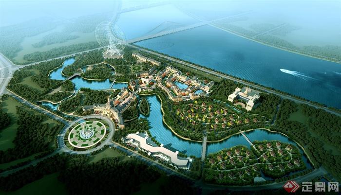 欧式大型住宅区规划-住宅区规划住宅区景观小区规划