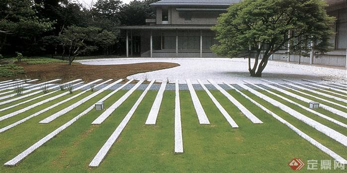 100余张园林景观路面铺装实景-铺装草坪-设计师图库图片