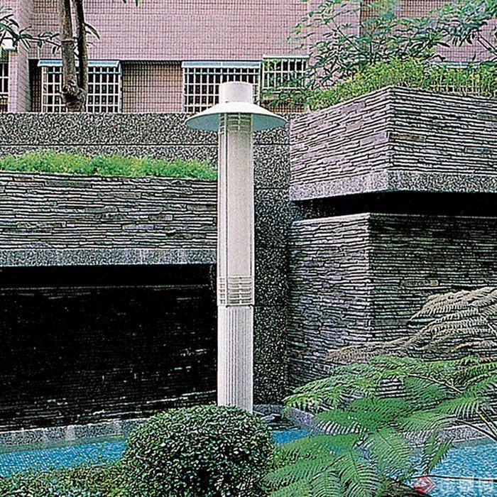 景观灯柱设计实景图-景观柱灯柱灯具-设计师图库