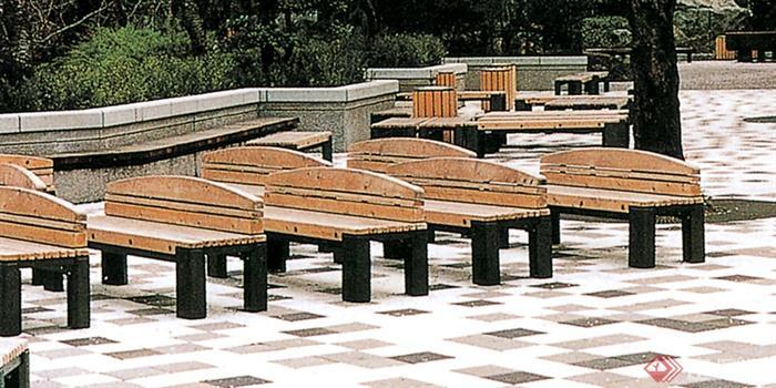 室外木制坐凳实景鉴赏-座椅木椅-设计师图库