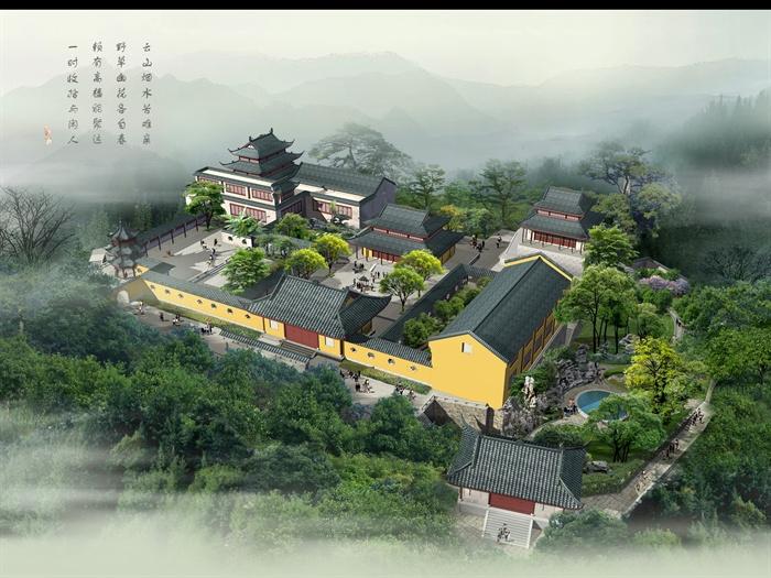 古中式宅院建筑设计效果图[原创]