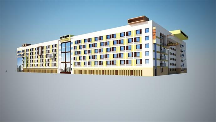 青年公寓su模型及效果图