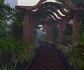 公园景观,花架,园路,地面铺装