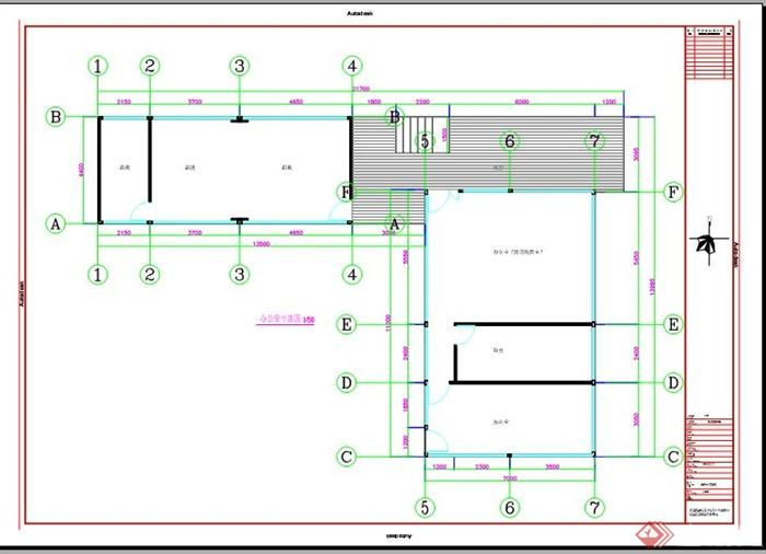 m60办公室建筑钢结构图纸(1)