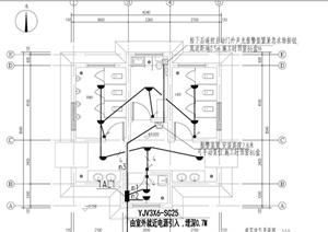 某廣場廁所水、電、結構及建筑施工圖