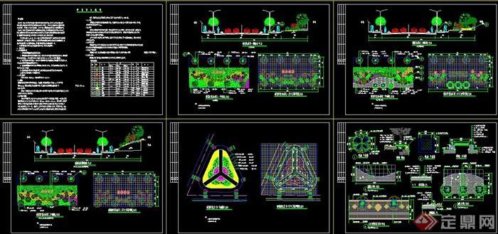 园林景观城市道路景观规划设计CAD施工图