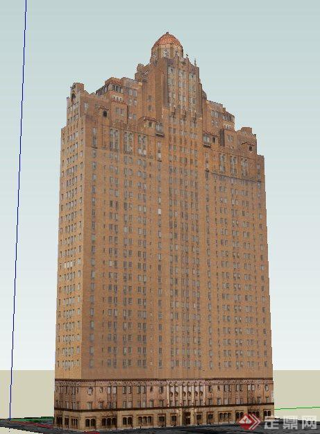 欧式高层写字楼建筑设计su模型