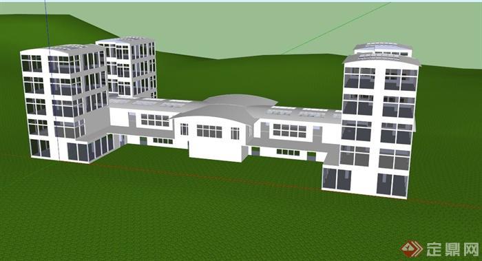 某酒店建筑框架设计su模型