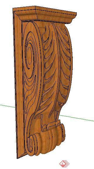 欧式木雕花su模型