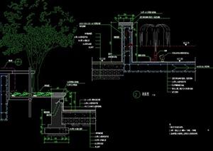 某园林景观喷泉水景设计CAD施工图-DWG水景喷泉园林景观细部图片