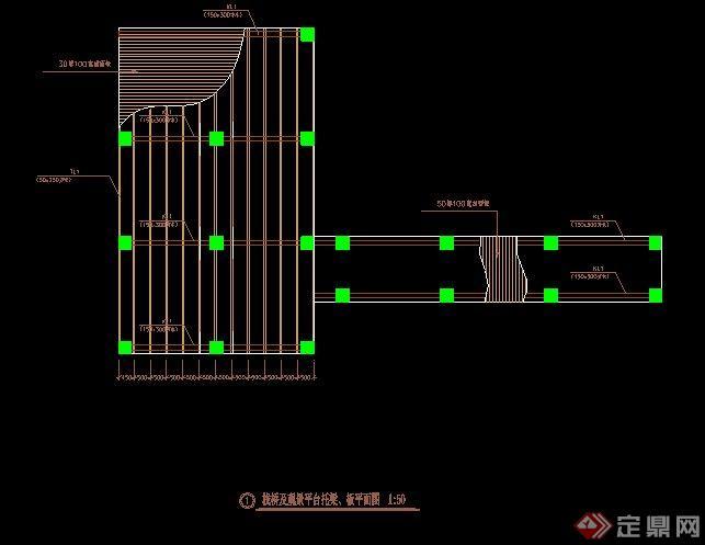 园林景观栈桥与观景平台施工图