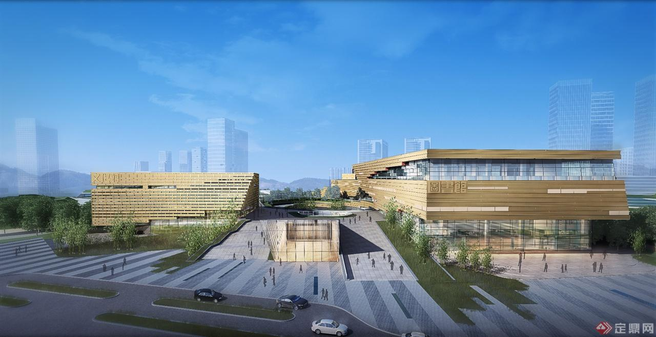 现代文化三馆建筑设计