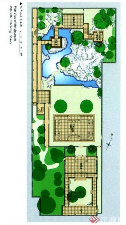 中外古典园林景观设计平面图
