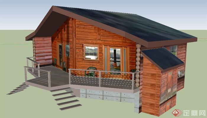 木屋民宅住宅建筑设计su模型
