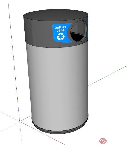 垃圾桶设计su模型(1)