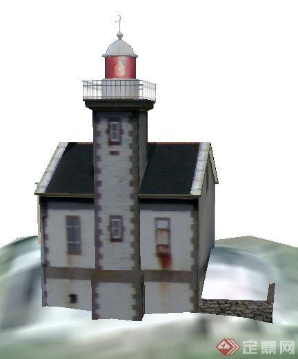欧式山地民居住宅建筑设计su模型