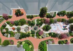 某住宅小区中心景观设计效果图