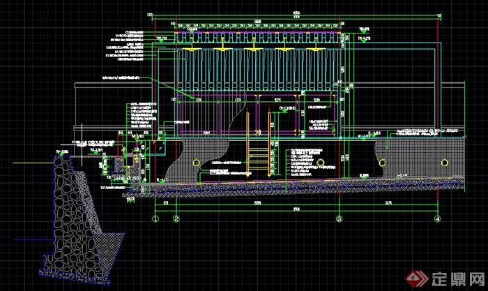 园林景观组合廊架施工图