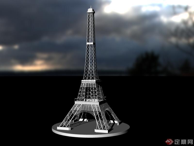 3d埃菲尔铁塔模型