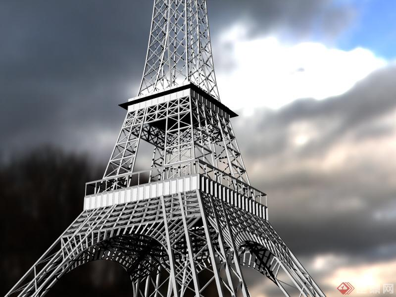 3d埃菲尔铁塔模型-玉玺