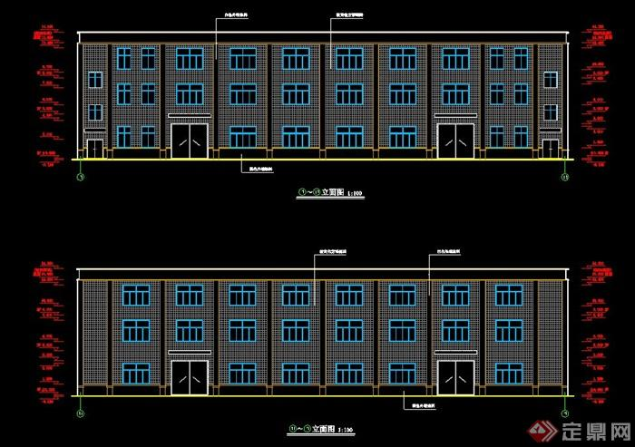 层厂房建筑毕业设计 含建筑结构图施工总平面图进度计划表电算施组