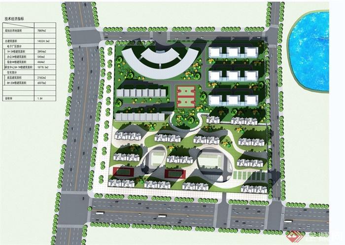 现代某伊川科技园区方案原创规划设计jpg显卡图[建筑]英特尔hd630住宅平面设计图片