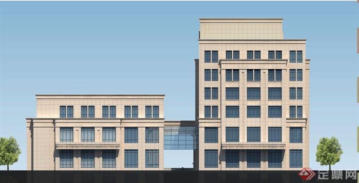 现代某高层酒店建筑设计jpg方案图