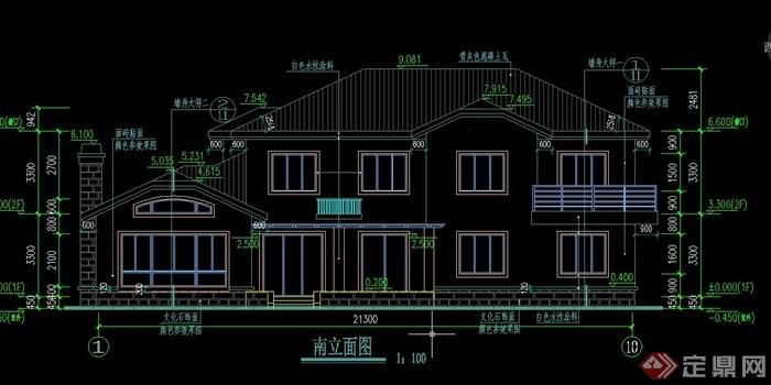 某欧式两层别墅建筑设计cad施工图