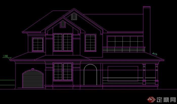 现代两层住宅建筑设计CAD方案图
