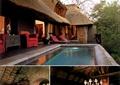 餐厅,客厅,庭院,水池,餐桌椅