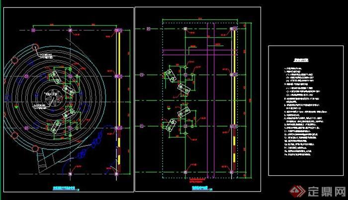 园林景观张拉膜结构施工图