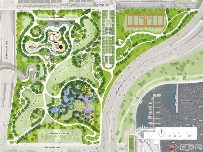 城市景观方案及实景图,效果图-公园公园景观-设计师