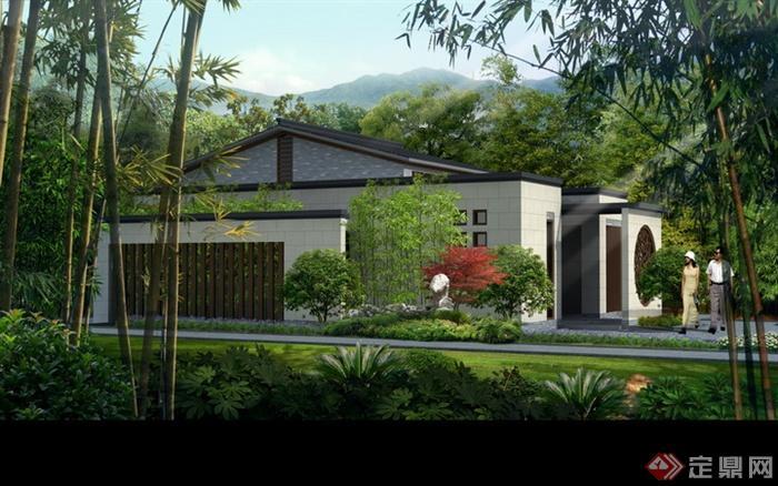 现代景观设计实景图及效果图-公共厕所围墙-设计师