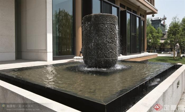 現代景觀設計實景圖及效果圖-跌水水景景觀水池-設計